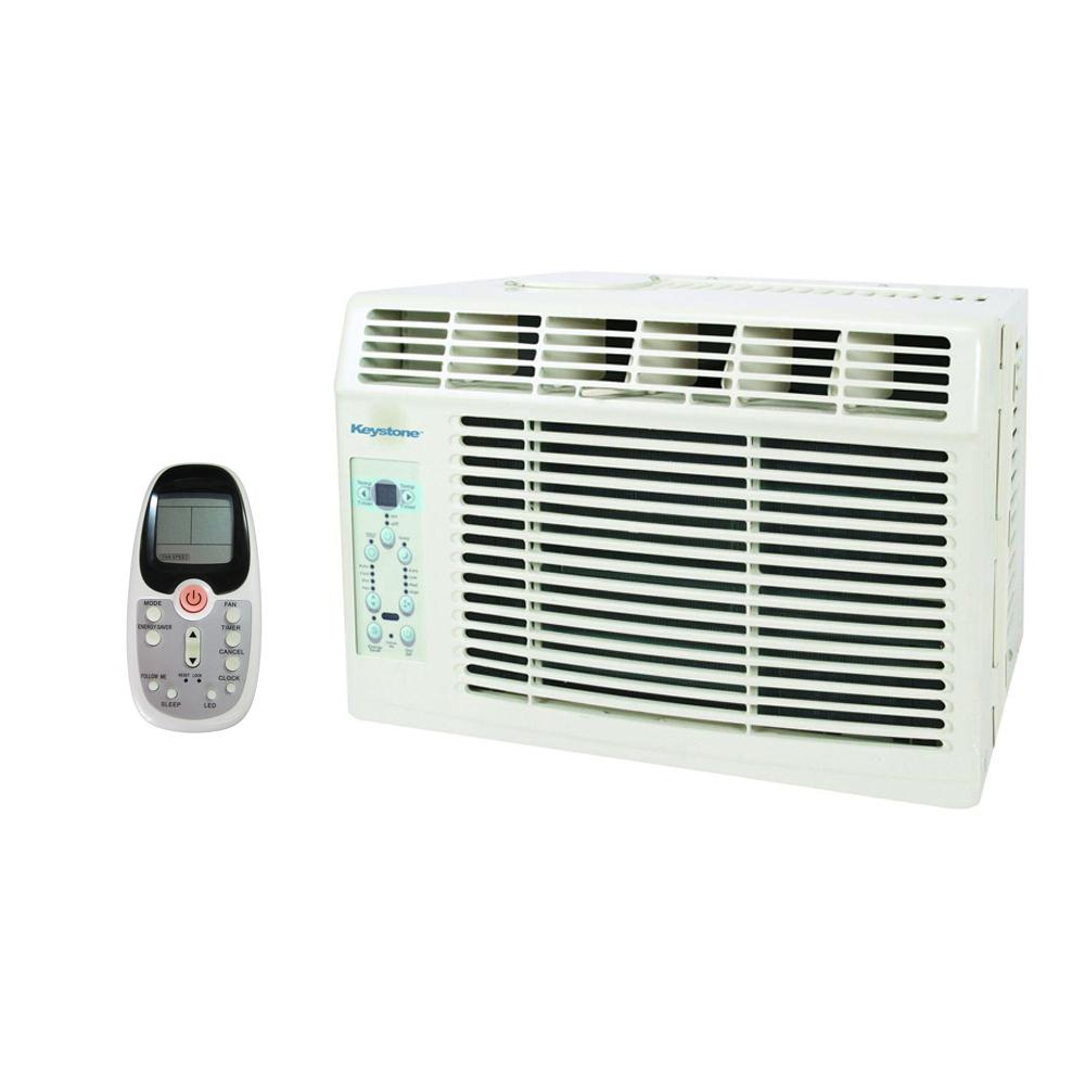 Keystone 6,000 BTU Window-Mounted Air Conditioner with LCD Remote, ENERGY STAR