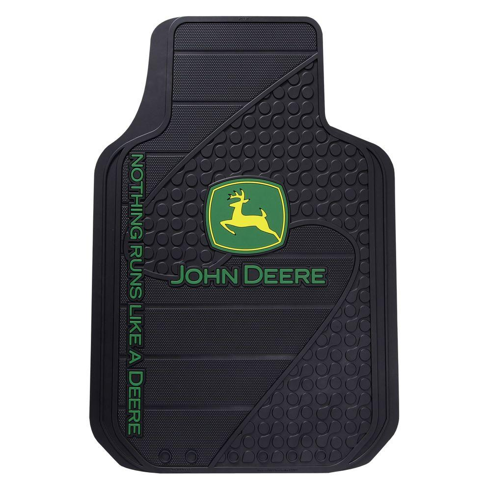 John deere heavy duty vinyl 31 in x 18 in floor mat for 99a soil treatment