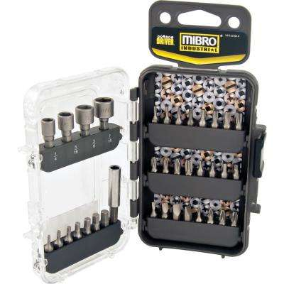 1 in. Screwdriver Bit and Nut Setter Set - For General-Purpose and DIY Use (36-Piece)