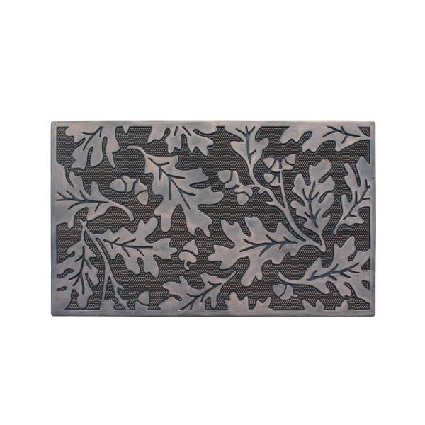A1 Home Collections Wildflower Rubber 18 In X 30 In Beautifully Copper Hand Finished Non Slip Durable Heavy Duty Door Mat A1hcrb6126 The Home Depot