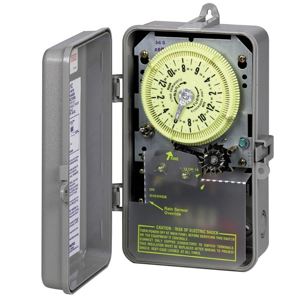 intermatic t8800 series 1 2 hp indoor outdoor irrigation sprinkler rh homedepot com Lawn Sprinkler Timers intermatic water heater timer wiring