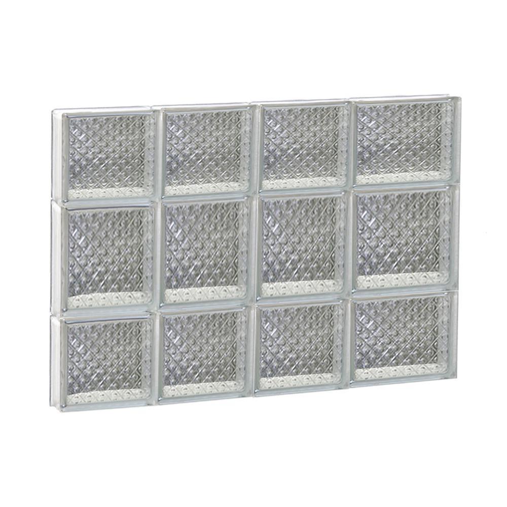 25 in. x 19.25 in. x 3.125 in. Frameless Non-Vented Diamond Pattern Glass Block Window