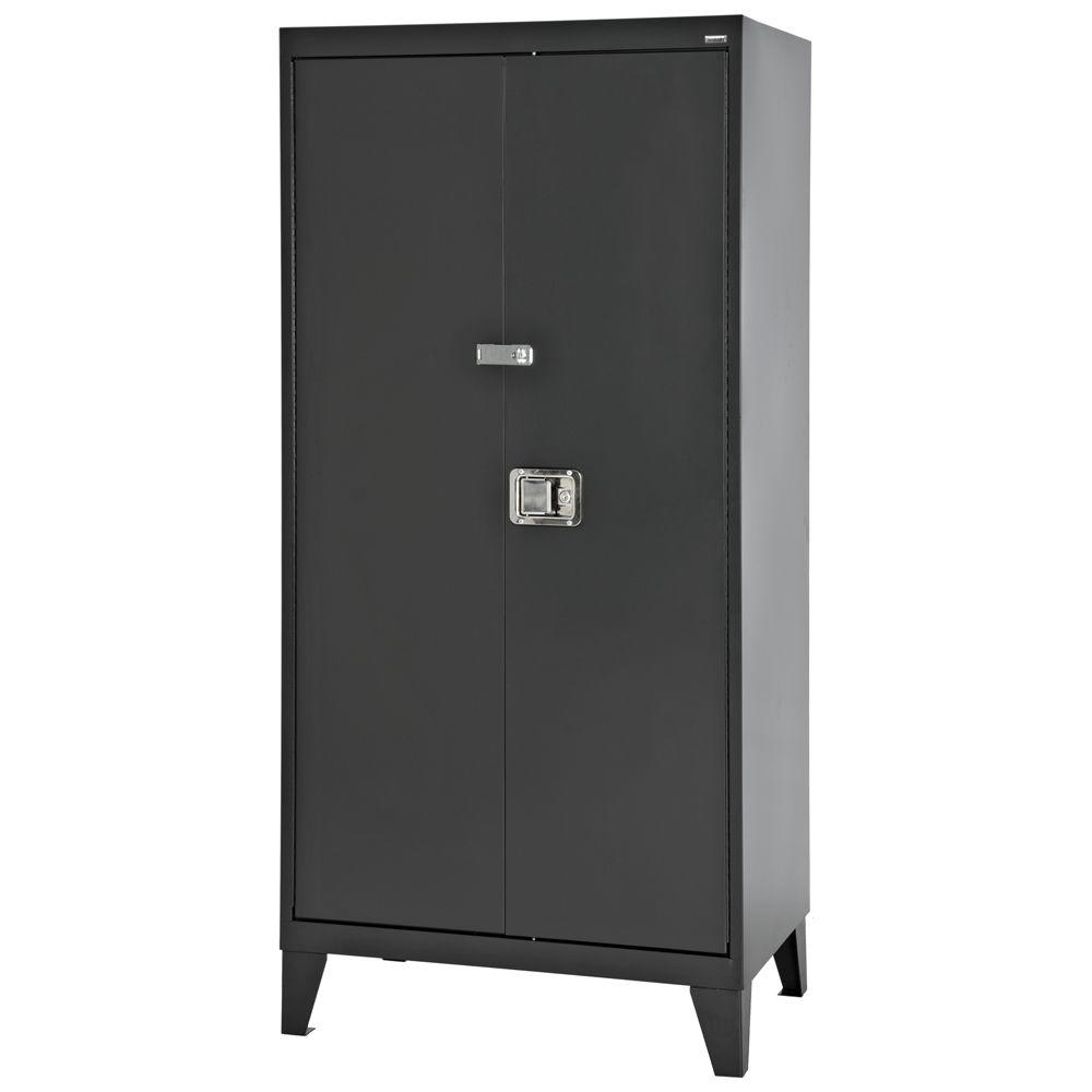 Sandusky 79 in. H x 46 in. W x 18 in. D Freestanding Steel Cabinet in Black