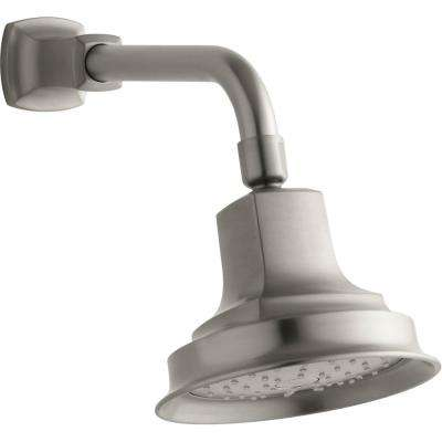 Margaux 1-Spray 5.9375 in. Showerhead with Katalyst Air Induction Technology in Vibrant Brushed Nickel
