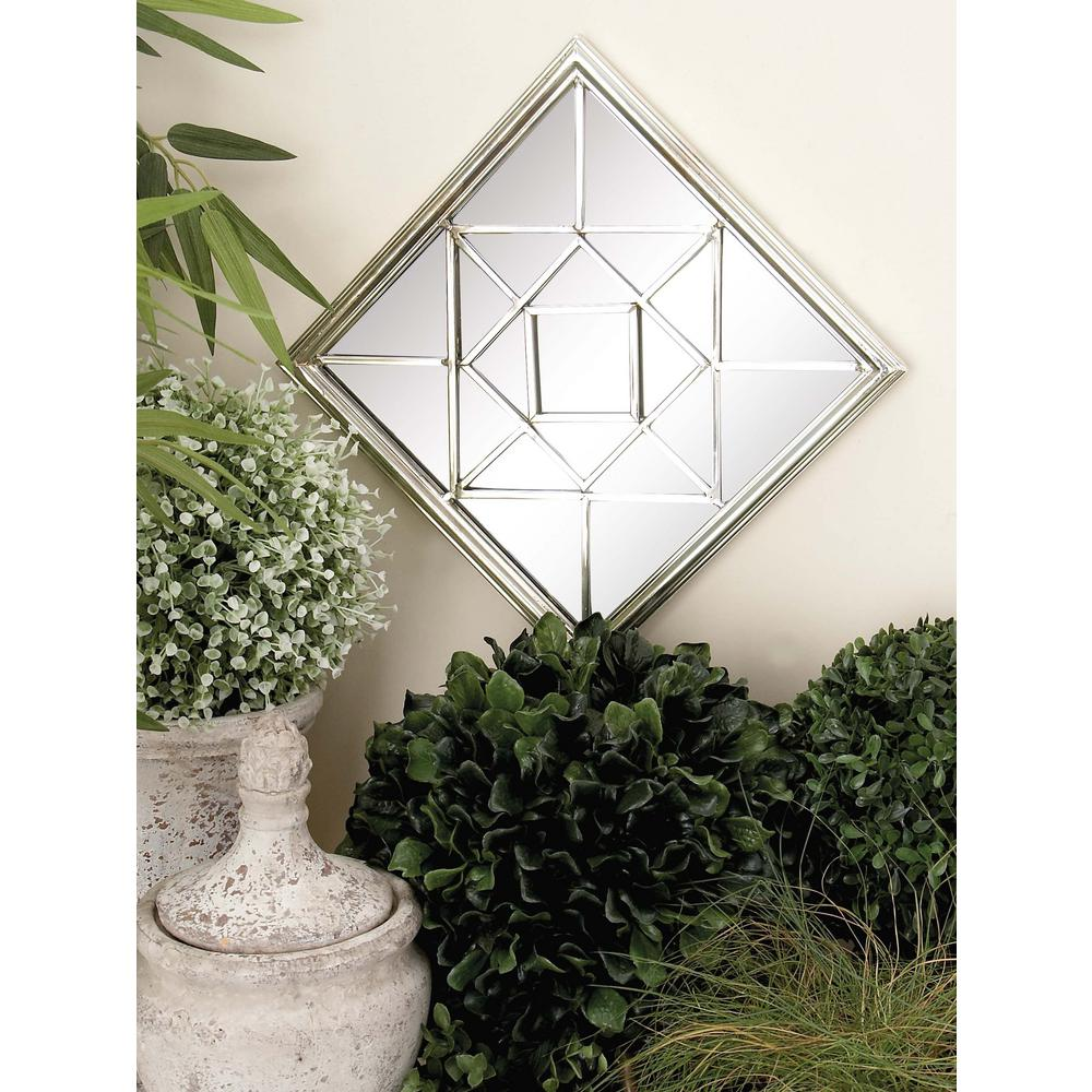11 In Silver Glass Mirrors With Geometric Pattern. Cube Seating. Upper Cabinet Height. Large Artwork. High Hat Lighting. Boat Bookcase. Blue Stone Pavers. Mcguire Lock And Safe. Mr Floor