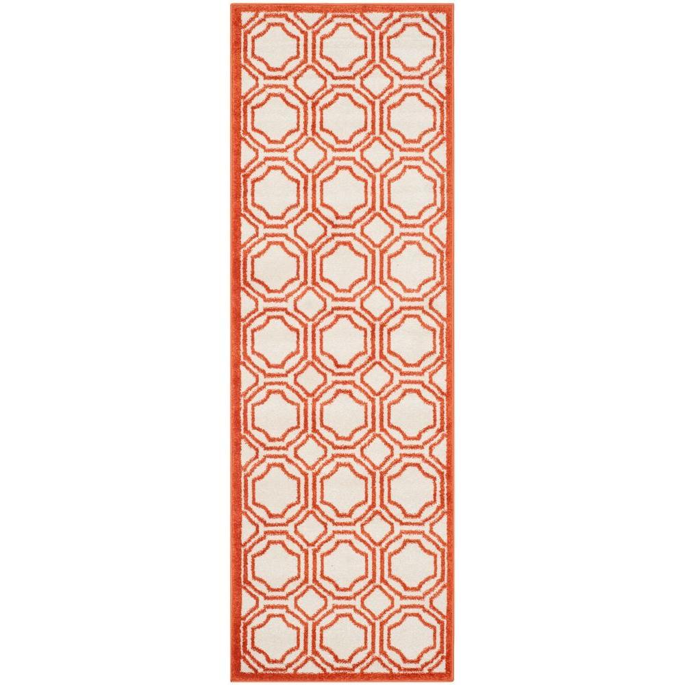 Amherst Ivory/Orange 2 ft. 3 in. x 7 ft. Indoor/Outdoor Runner