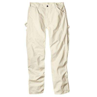 Men's Relaxed Fit 38 in. x 34 in. Natural Painters Pant