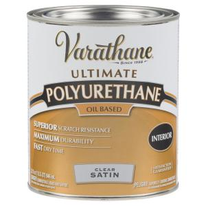 1 qt. Clear Satin Oil-Based Interior Polyurethane