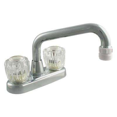 4 in. Centerset 2-Handle Bathroom Faucet in Chrome