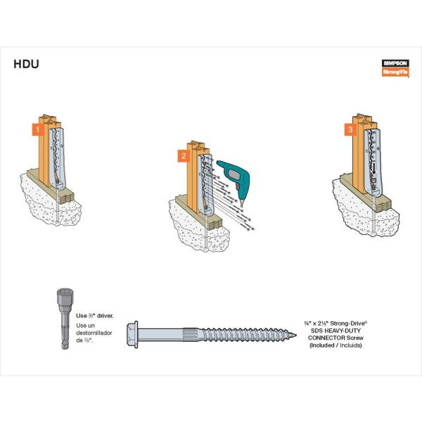 Simpson Strong-Tie HDU8-SDS2.5 Predeflected Holdown with SDS Screws