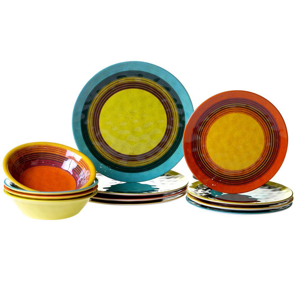 Sedona 12-Piece Assorted Dinnerware Set