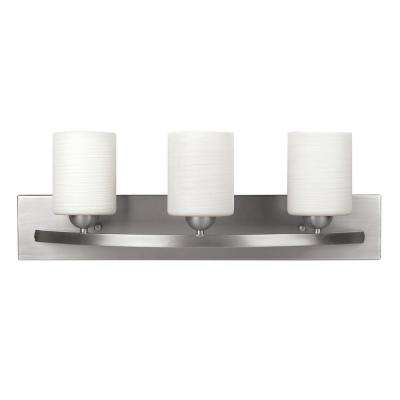 Hampton 3-Light Brushed Pewter Bath Light