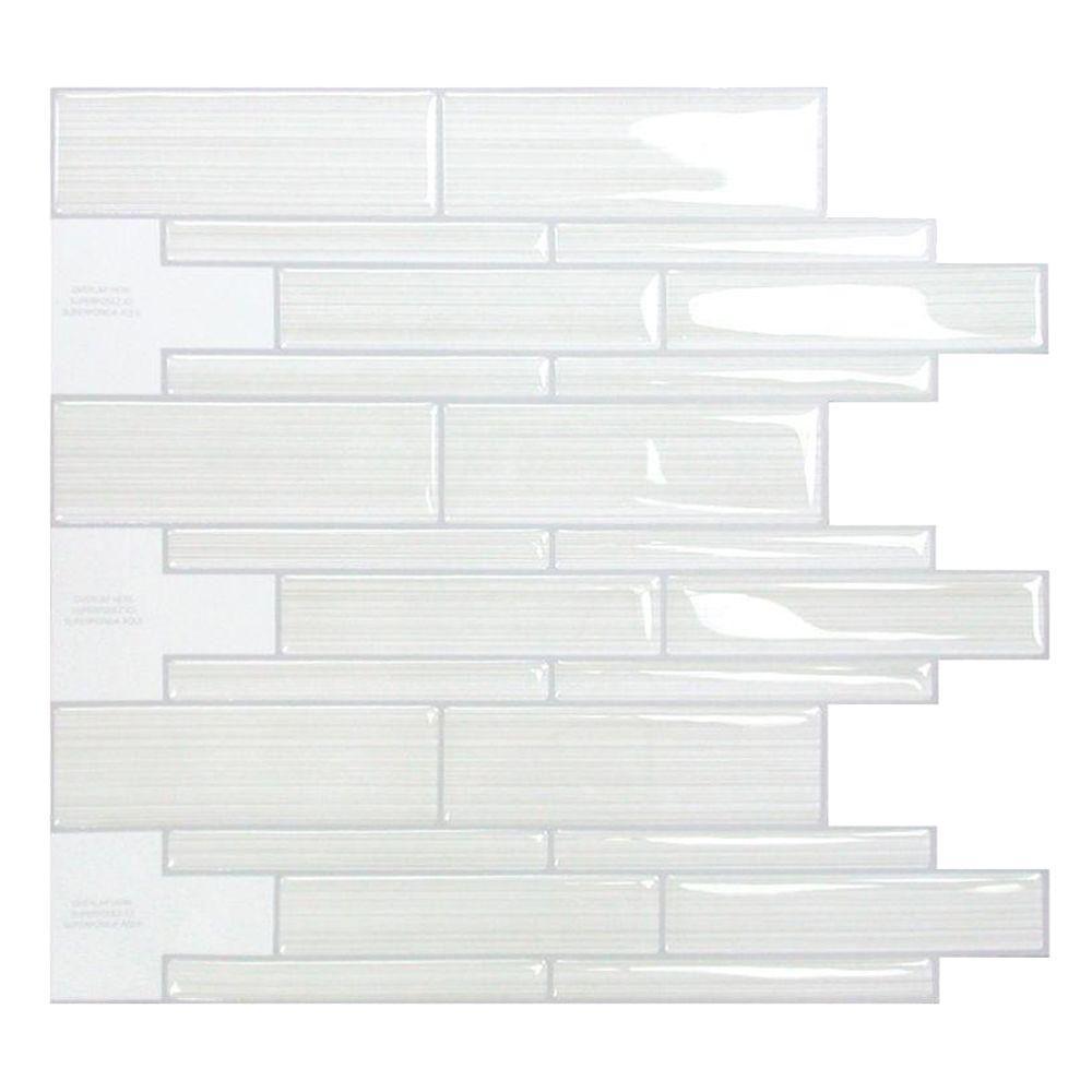 Smart Tiles Infinity Blanco 10.51 in. W x 9.71 in. H
