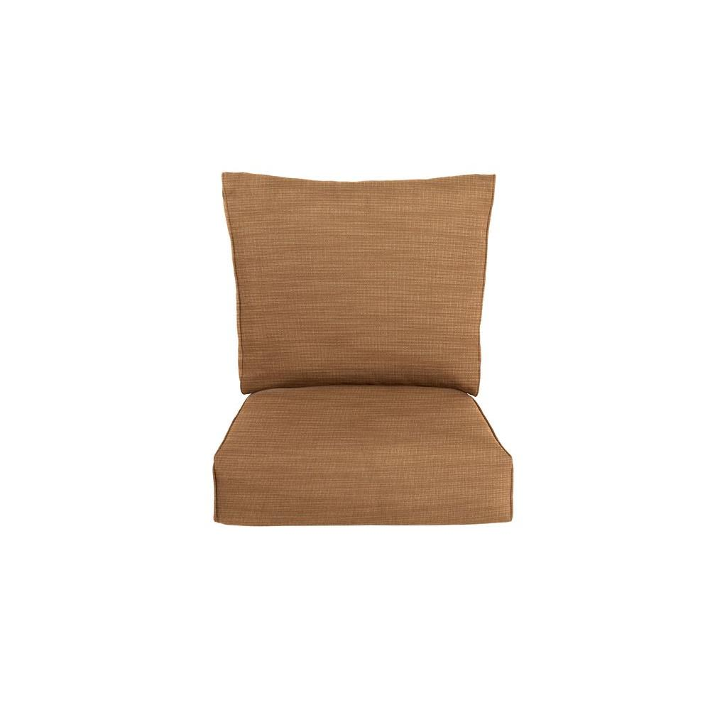 Brown Jordan Highland Replacement Outdoor Lounge Chair Cushion in Toffee