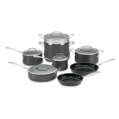 Contour 13-Piece Black Cookware Set with Lids