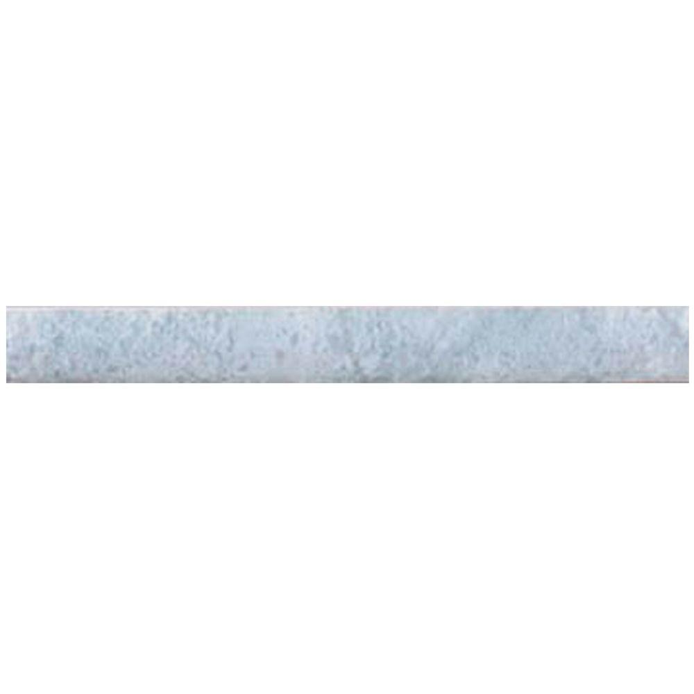 Merola Tile Joya Gris 1 in. x 8 in. Ceramic Cigarro Trim Tile