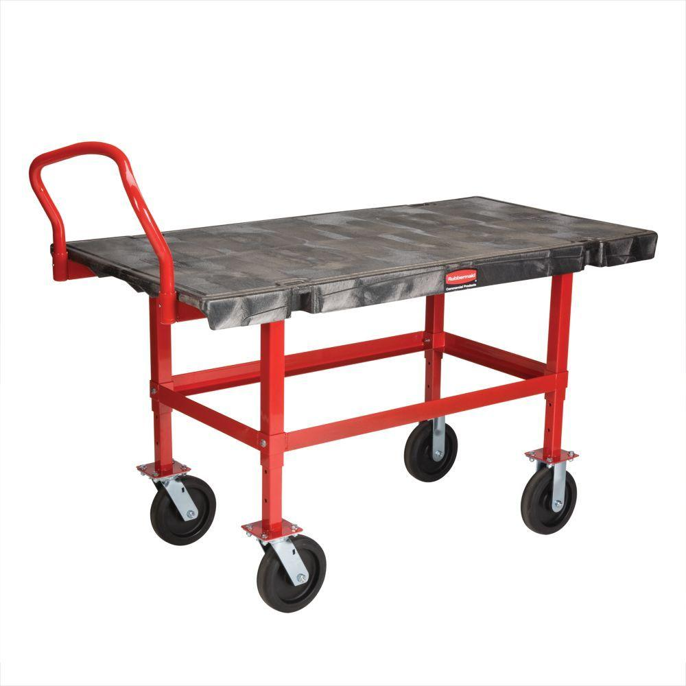 Rubbermaid Commercial Products 24 in. x 48 in. Work-Height Platform Truck