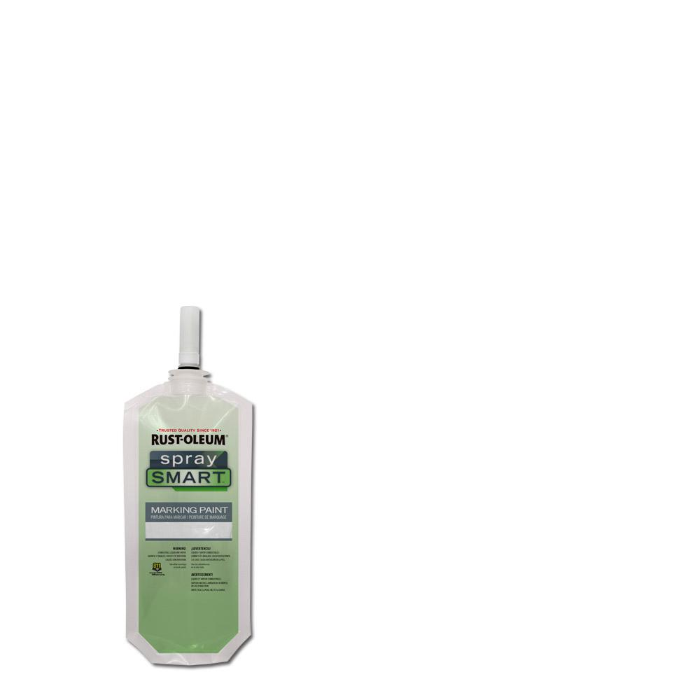 10.5 oz. White SpraySmart Marking Paint Pouch (12-Pack)