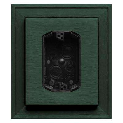 7 in. x 8 in. #028 Forest Green Electrical Mounting Block