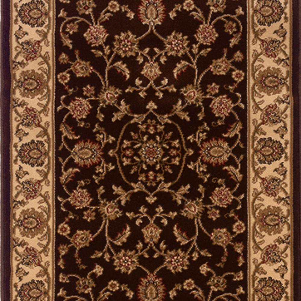 Kurdamir Rockland Brown 26 in. x Your Choice Length Stair Runner