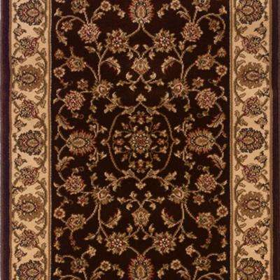 Kurdamir Rockland Brown 33 in. x Your Choice Length Stair Runner