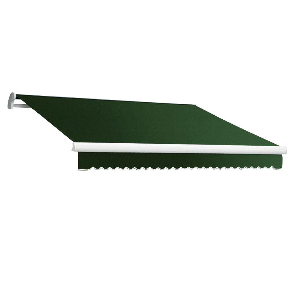 Beauty-Mark 20 ft. MAUI EX Model Manual Retractable Awning (120 in. Projection) in Forest Green