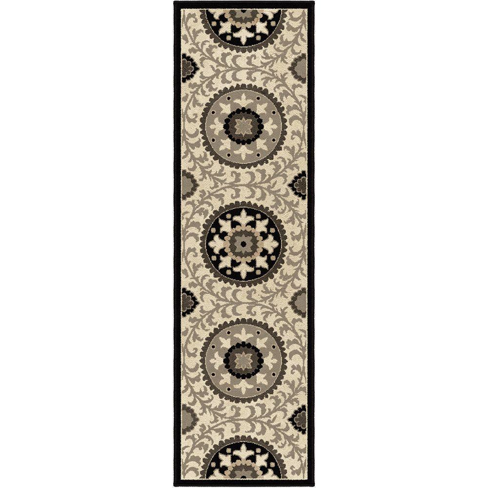 null Patience Taupe 2 ft. 3 in. x 8 ft. Indoor Runner