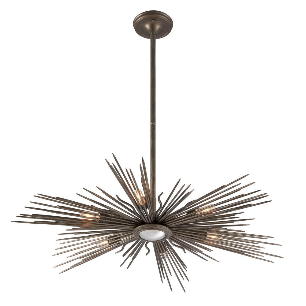 Blink 6-Light Light Cottage Bronze Outdoor Pendant