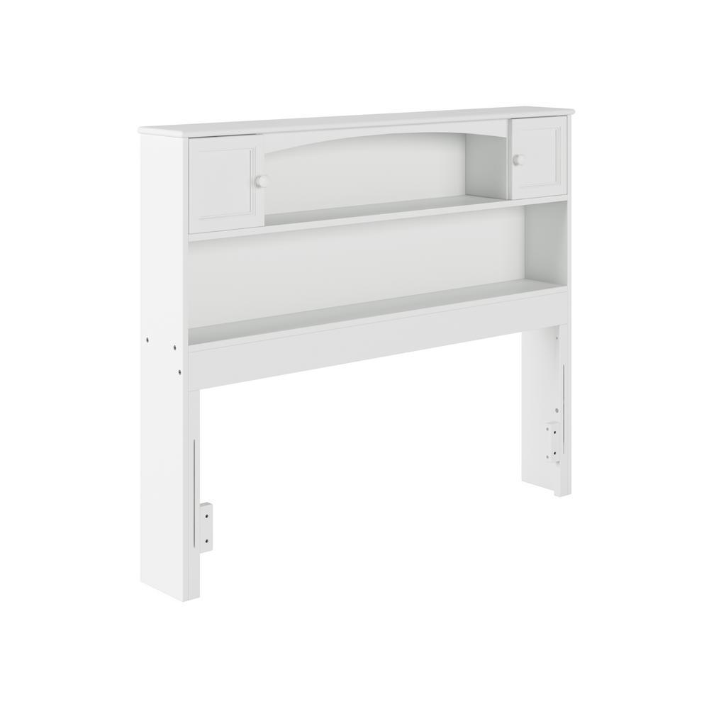 Newport  Full White Bookcase Headboard