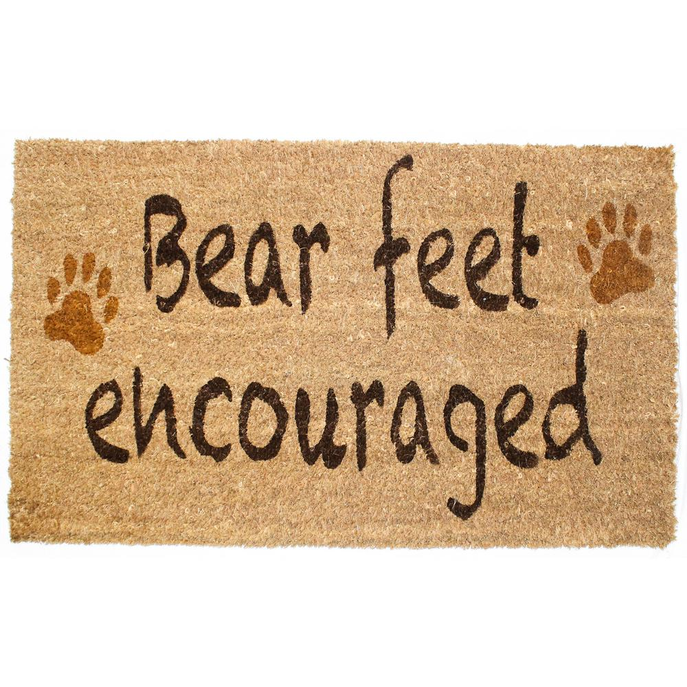 J And M Home Fashions 18 In X 30 In Bear Feet Vinyl Back Coco Door