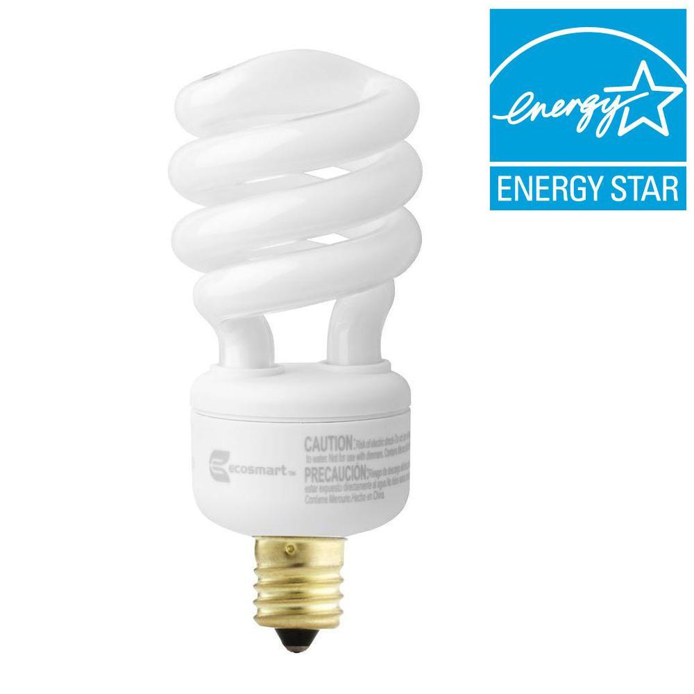 60W Equivalent Soft White (2700k) Spiral CFL Light Bulb (2-Pack)
