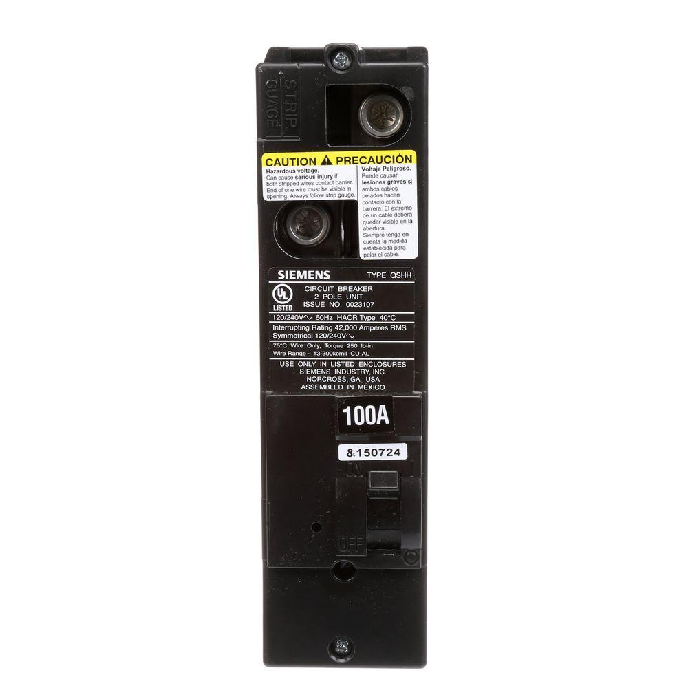100 Amp Double-Pole 42kA Type QS Multi-Family Main Breaker