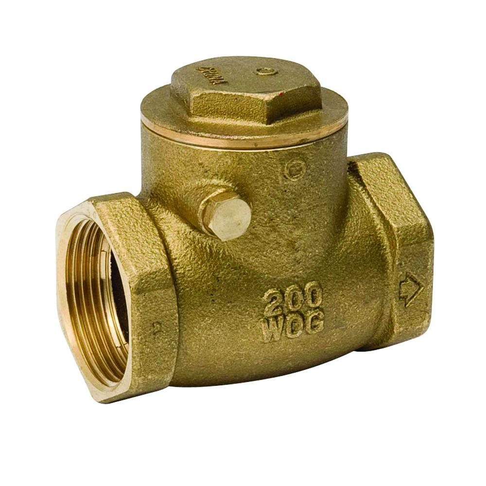 1/2 in. Brass Swing Check Valve-101-003NL - The Home Depot