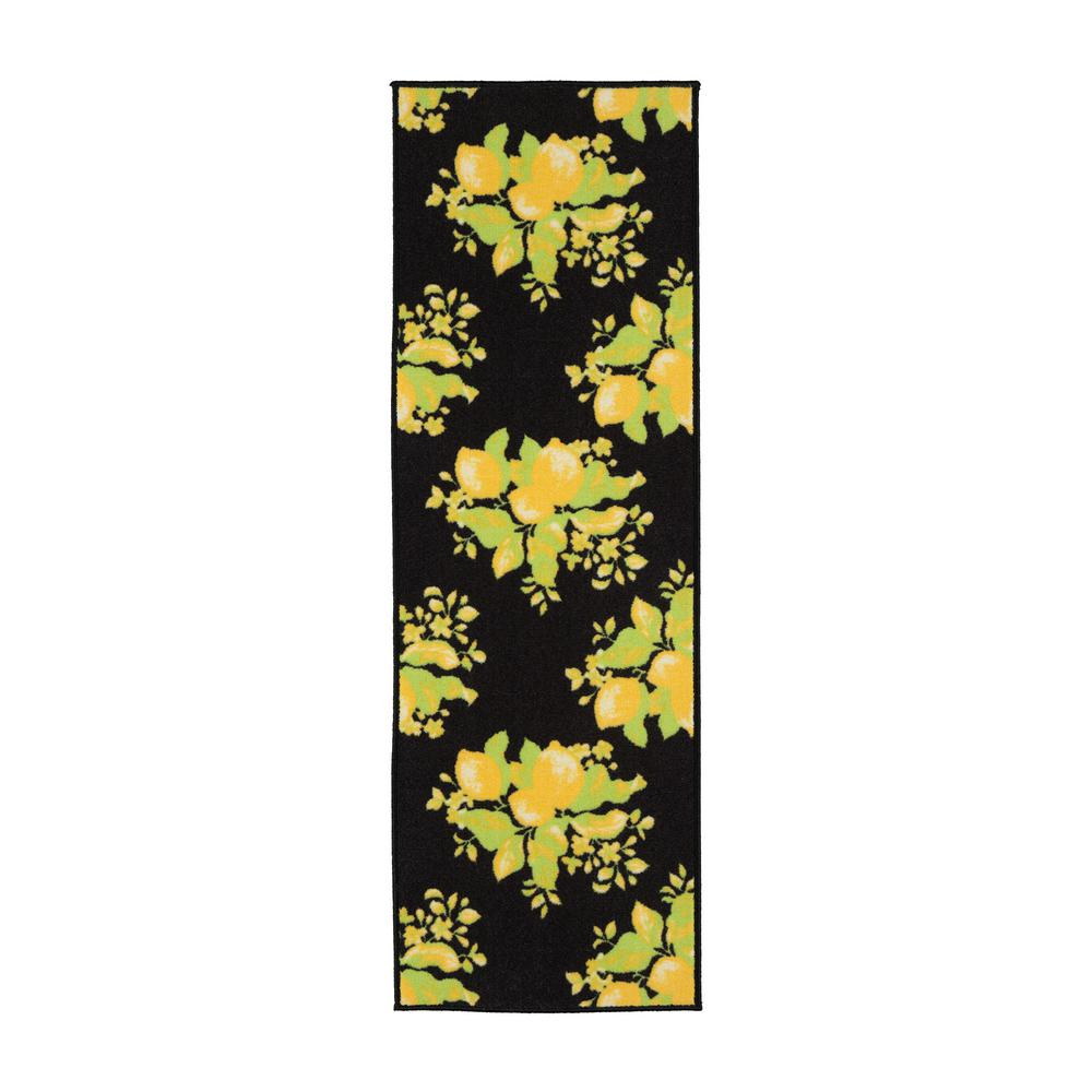 Ottomanson Lemon Collection Black 1 ft. 8 in. x 4 ft. 11 in. Lemon Design Runner Rug was $19.22 now $14.42 (25.0% off)