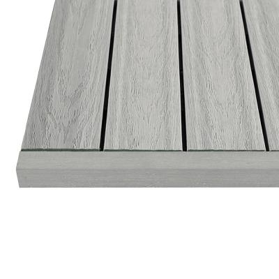 1/6 ft. x 1 ft. Quick Deck Composite Deck Tile Straight Trim in Icelandic Smoke White (4-Pieces/Box)