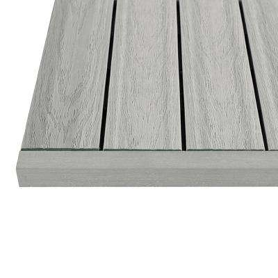 1/6 ft. x 1 ft. Smoke White Quick Deck Composite Deck Tile Straight End Fascia in Icelandic (4-Piece/Box)