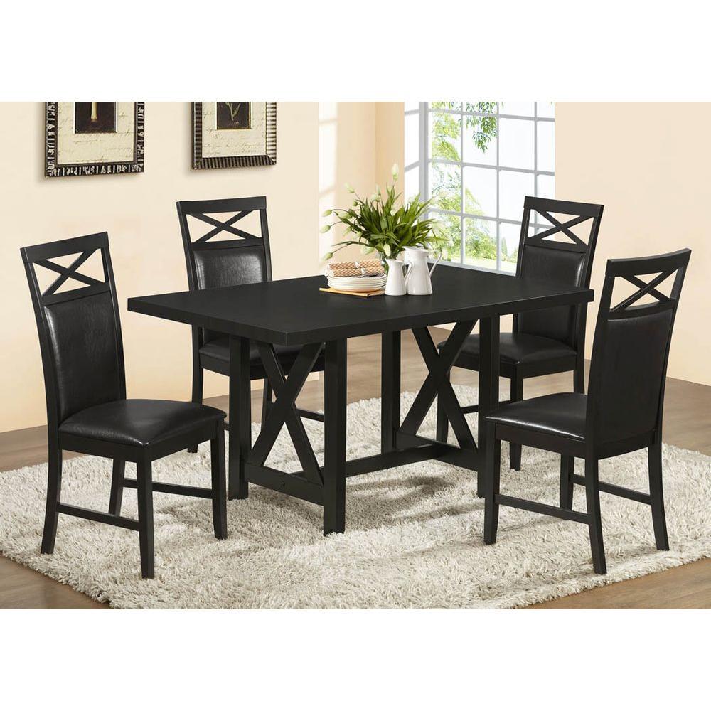 Monarch Specialties 36 in. x 60 in. Cappuccino Ash Veneer Dining Table