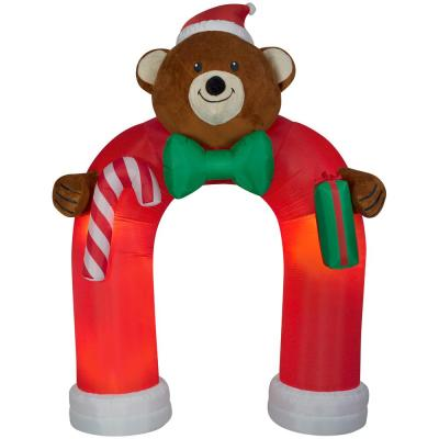 Gemmy Holiday W Animated Inflatable Air blown Plush Teddy Bear