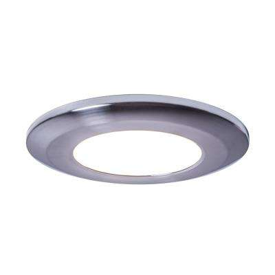 Wafer Thin Bright White LED Puck Light Polished Chrome Finish