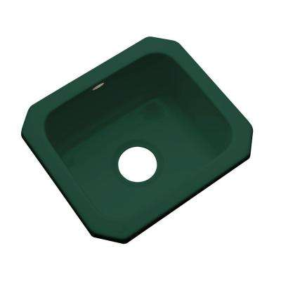 Manchester Undermount Acrylic 16 in. 0-Hole Single Bowl Entertainment Sink in Timberline