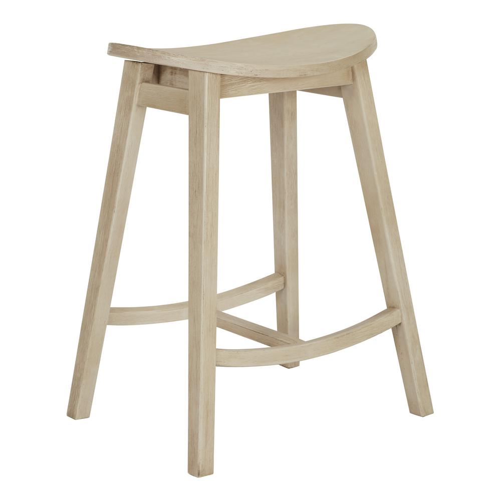 OSP Home Furnishings 24 in. Antique White York Scoop Saddle Stool (Set of 2) OSP Home Furnishings 24 in. Antique White York Scoop Saddle Stool (Set of 2).