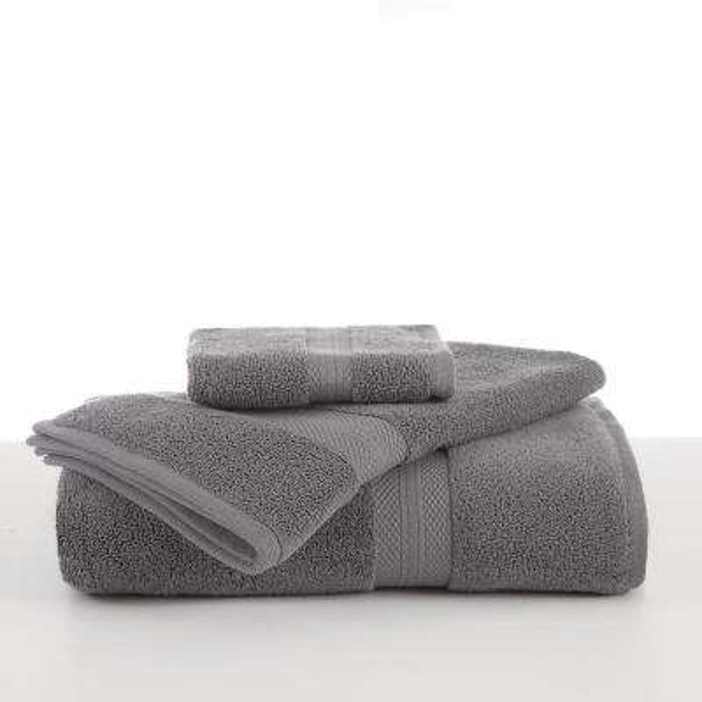 Abundance Cotton Blend  Hand Towel in Boulder Grey