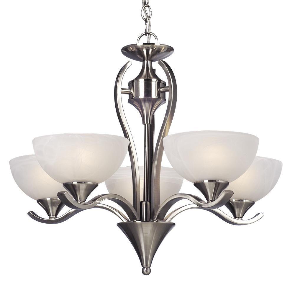 Filament Design Negron 5-Light Brushed Nickel Incandescent Chandelier