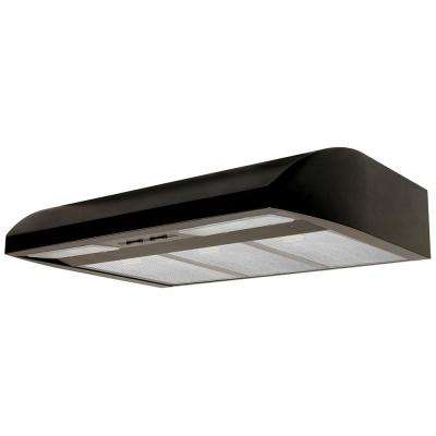 Essence 36 in. ENERGY STAR Certified Convertible Under Cabinet Range Hood with Light in Black