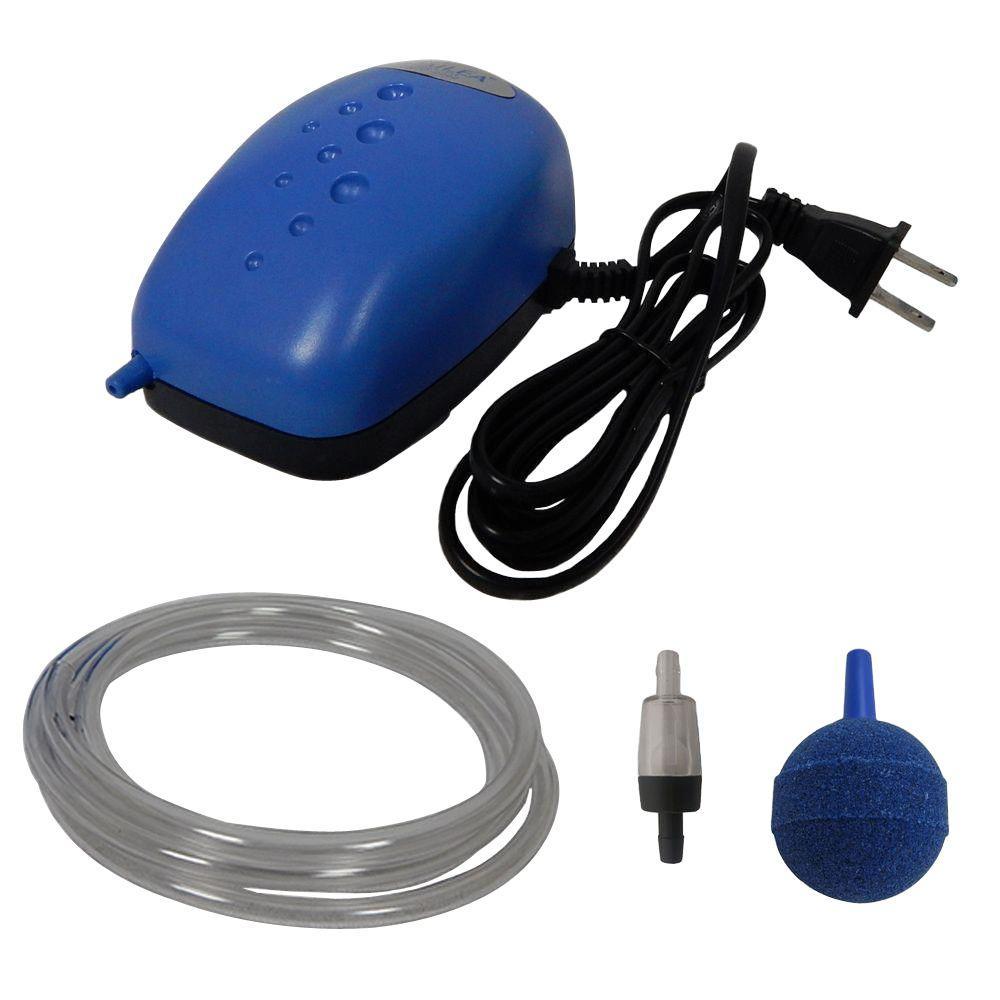 Viagrow Viagrow 0.003 HP Single Valve Air Pump Kit with Air Stone and Check Valves