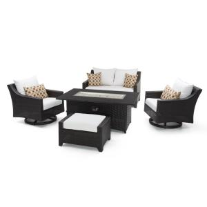 RST Brands Deco Motion 5-Piece Wicker Patio Fire Pit Conversation Set with... by RST Brands