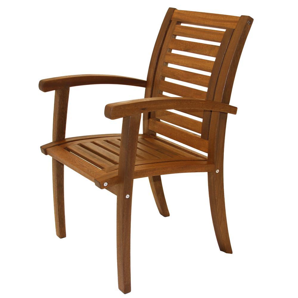 Outdoor Interiors Luxe Eucalyptus Outdoor Dining Chair