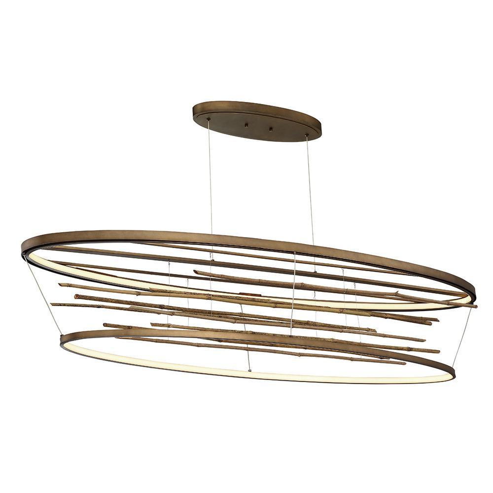 Bobina 91-Watt Bronze Integrated LED Chandelier