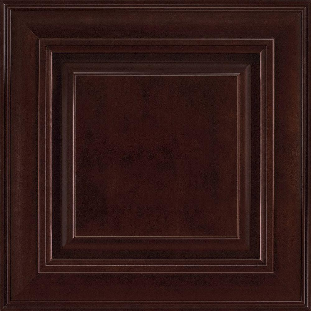 American Woodmark 14-9/16x14-1/2 in. Savannah Cherry Cabinet Door ...