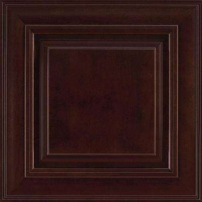 14-9/16x14-1/2 in. Savannah Cherry Cabinet Door Sample in Java